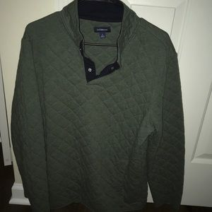 Men's Large 3/4 quilted button up pullover